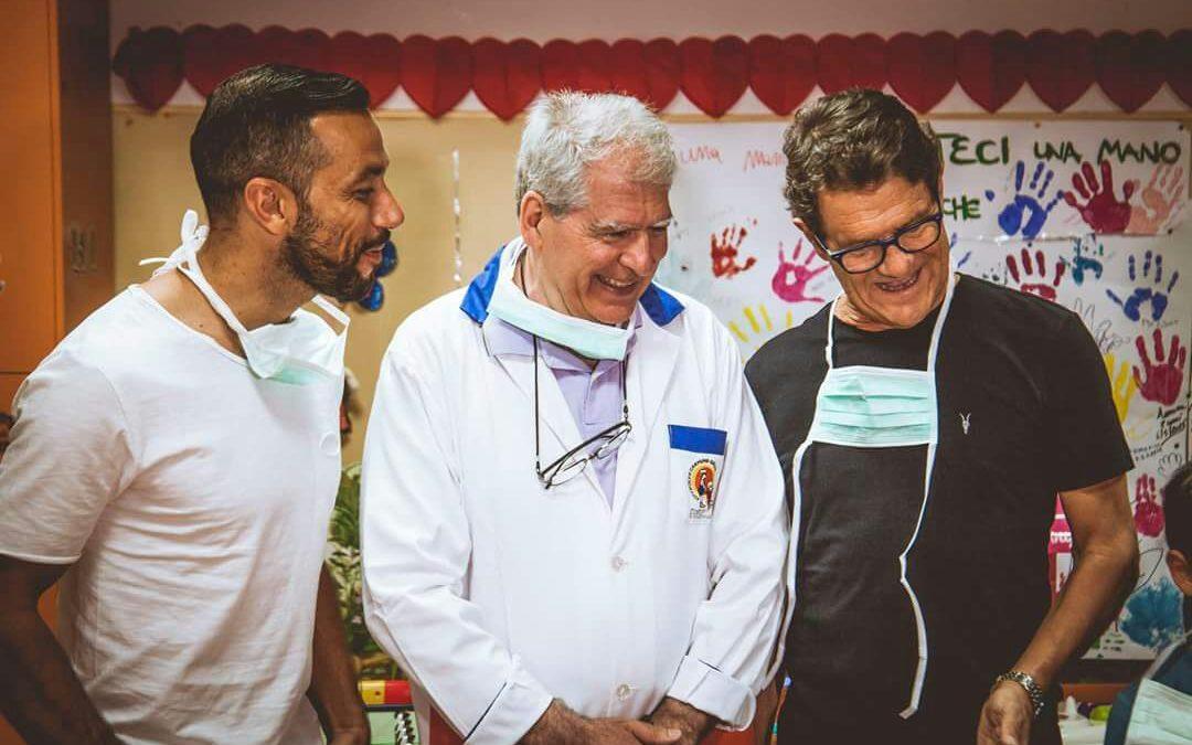 Football Leader 2017: Quagliarella, Capello e Di Marzio fanno visita ai piccoli degenti dell'Ospedale Pausilipon