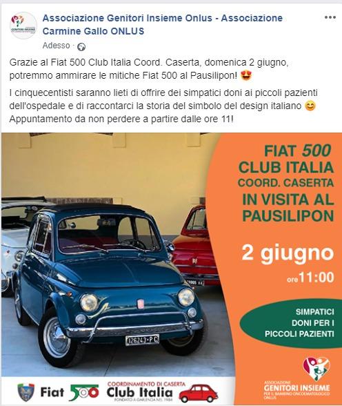 Fiat 500 al Pausilipon