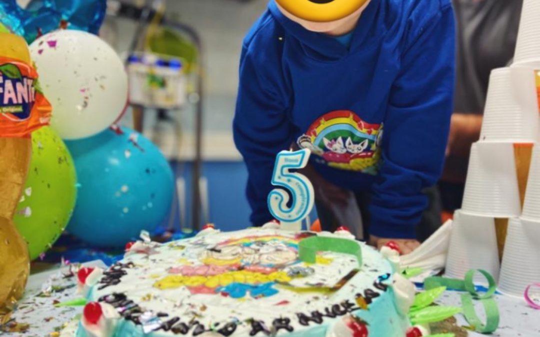 Festa di compleanno in reparto